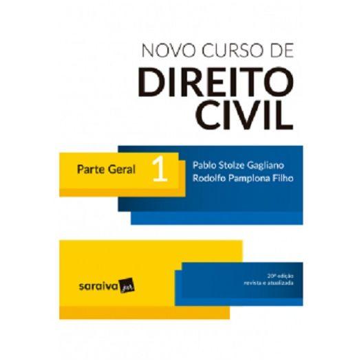 Novo Curso de Direito Civil - Vol 1 - Saraiva - 20 Ed