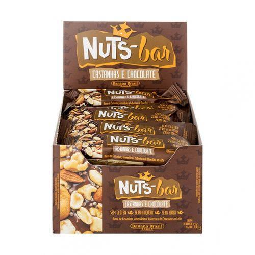 Tudo sobre 'Nuts Bar Castanhas e Chocolate 25g X 20 - Banana Brasil'