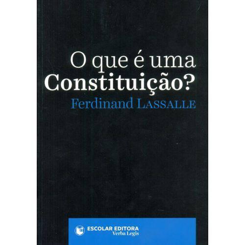 Tudo sobre 'O que é uma Constituição?'