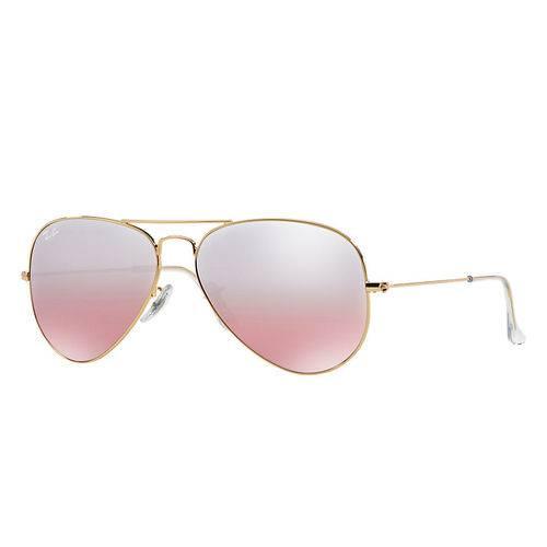 Óculos de Sol Aviator Espelhado Rosa 62-14