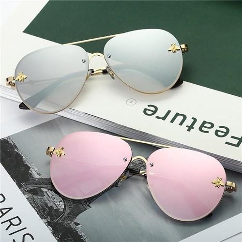 Óculos de Sol Feminino Aviador Delicate / Azul