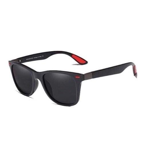Óculos de Sol Masculino Detroit - Preto Brilhante