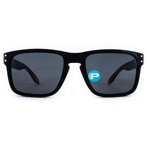 Óculos de Sol Oakley Holbrook OO9102L 02-55 Polarizado - Preto
