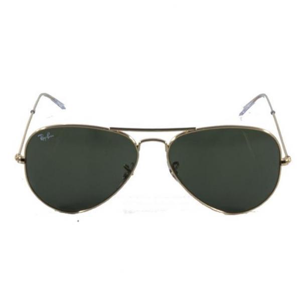 Óculos de Sol Ray Ban Aviador Clássico RB3025 Ouro Lente Verde - Ray-ban