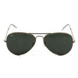 Óculos de Sol Ray Ban Aviador Clássico RB3025 Ouro Lente Verde