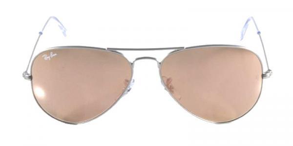 Óculos de Sol Ray Ban Aviador Clássico RB3025 Prata Fosco - Ray-ban