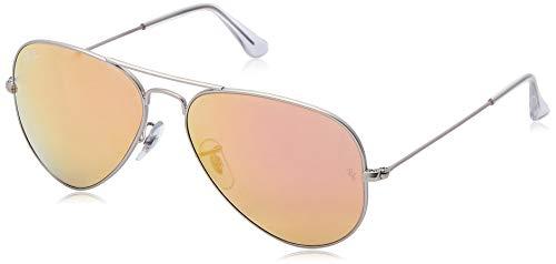 Óculos de Sol Ray Ban Aviador Clássico RB3025 Prata Fosco