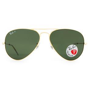 Óculos de Sol Ray Ban Aviator RB3025L 001/58-58 Polarizado - Dourada