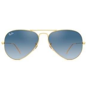 Óculos de Sol Ray Ban Aviator RB3025L 001/3F-58 - Dourada/Azul Degradê