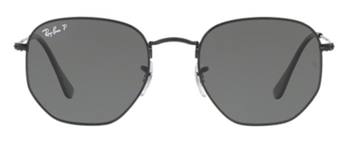 Óculos de Sol Ray Ban Hexagonal Metal Rb3548 Preto Lente Verde Flat Polarizada 54