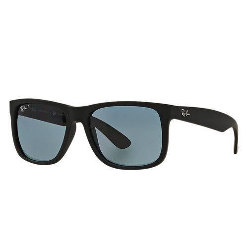 Tudo sobre 'Óculos de Sol Ray-Ban Justin Polarizado Azul/Preta Emborrachada Clássico'
