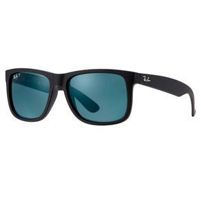 Óculos de Sol Ray Ban Justin Polarizado RB4165L 622/2V-57 - Preto Fosco - Único