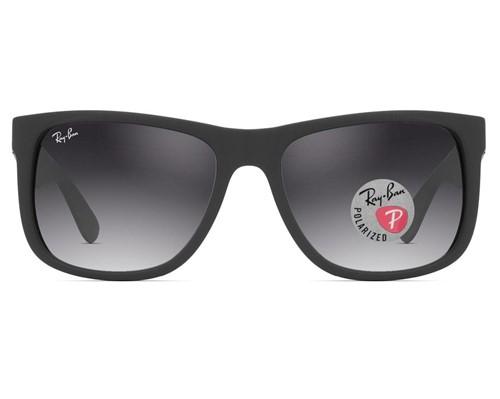Óculos de Sol Ray Ban Justin Polarizado RB4165L Preto Fosco 622/T3-55