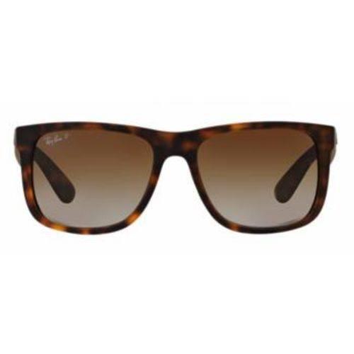 Óculos de Sol Ray Ban Justin RB4165 Tartaruga Lentes Polarizadas