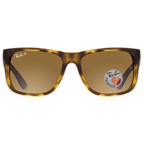 Óculos de Sol Ray Ban Justin RB4165L 865/T5-55 Polarizado - Marrom, Tartaruga