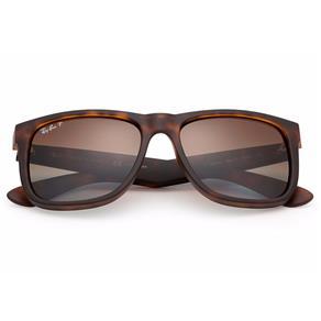 Óculos de Sol Ray Ban Justin RB4165L 865/T5 Tartaruga - Marrom/Degradê 55 3P Polarizado - Preto - Único