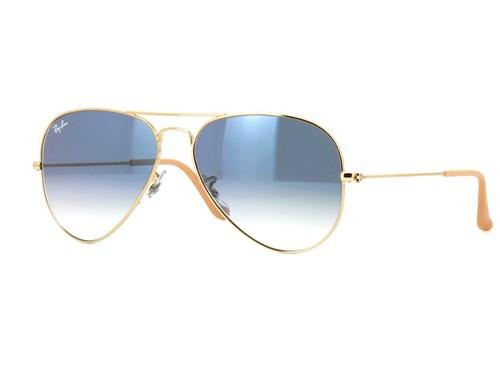 Óculos de Sol Ray Ban Rb3025 001/3F (Azul, Dourada)