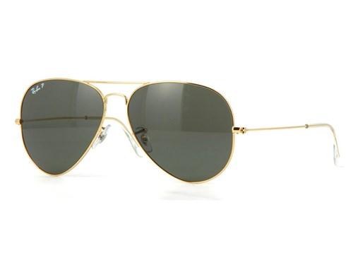 Óculos de Sol Ray Ban Rb3025L 001/58 (Verde, Dourada, Polarizadas)