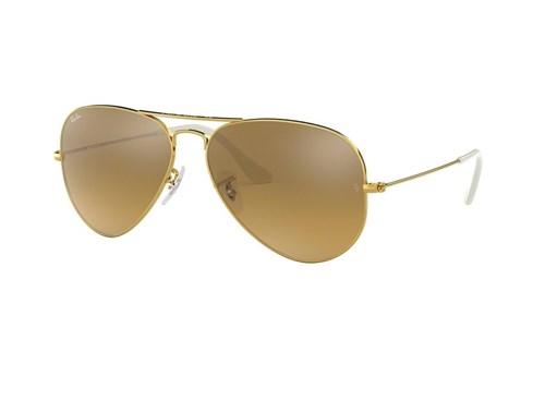Óculos de Sol Ray Ban Rb3025L 001/3K (Marrom, Dourada, Espelhadas)