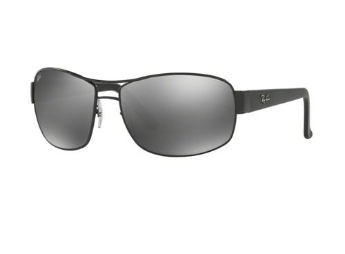 Óculos de Sol Ray Ban Rb3503L 006/30 (Cinza, Preta, Espelhadas)