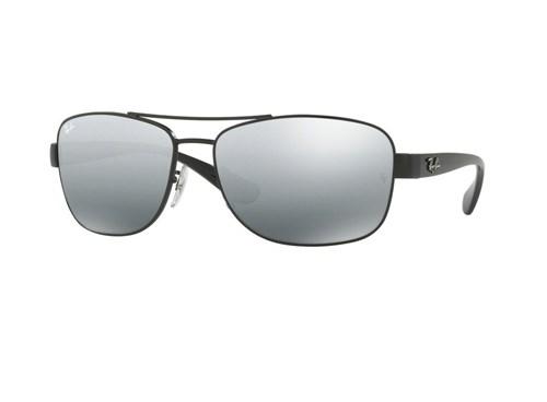 Óculos de Sol Ray Ban Rb3518L 006/88 (Cinza, Preta, Espelhadas)