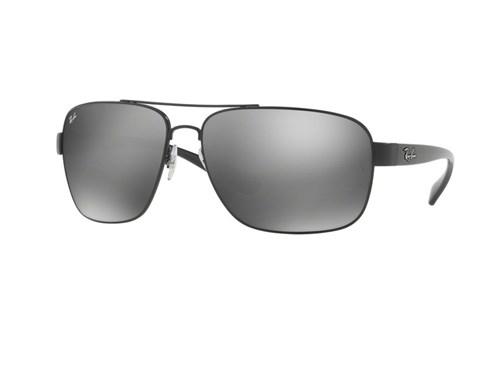 Óculos de Sol Ray Ban Rb3567L 006 (Cinza, Preta, Espelhadas)