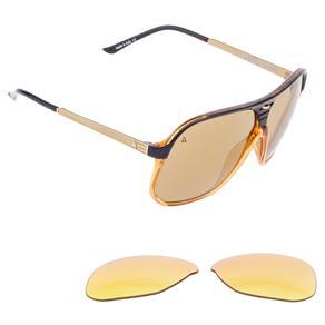 Óculos de Sol Unisex Liberdade 2053 Absurda - Tamanho Único - Marrom