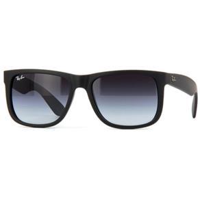 Óculos de Sol Unissex Ray Ban com Lentes Acinzentadas Degradê e Acetato Preto - RB4165L6018G - Único
