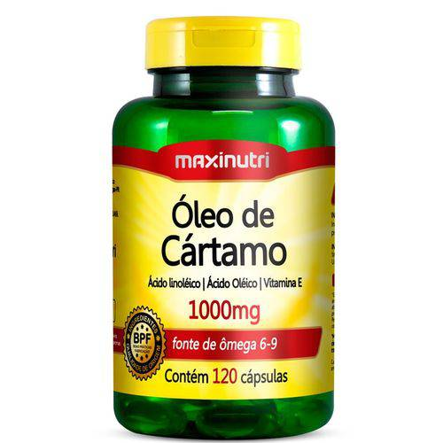 Óleo de Cártamo 1000mg com 120 Cápsulas - Maxinutri