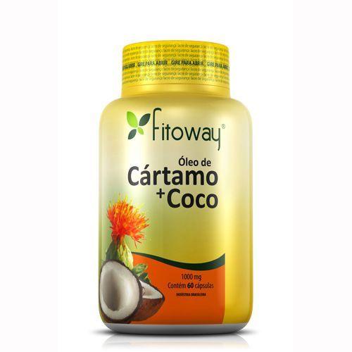 Oleo de Cartamo + Coco Fitoway - 60 Cápsulas - Fitoway