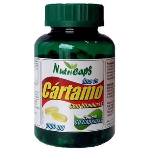 Óleo de Cártamo com Vitamina e 1000mg - 60 Cápsulas.