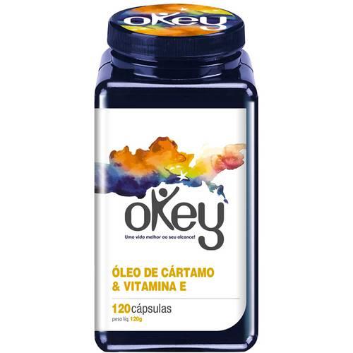 Óleo de Cártamo & Vitamina e - 120 Cápsulas - Okey