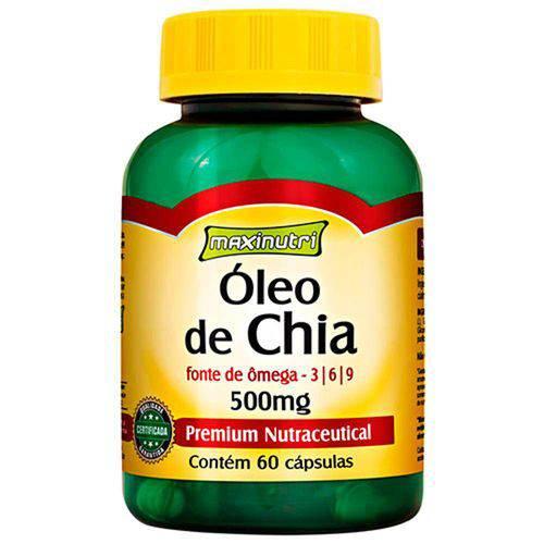 Óleo de Chia - 60 Cápsulas - Maxinutri