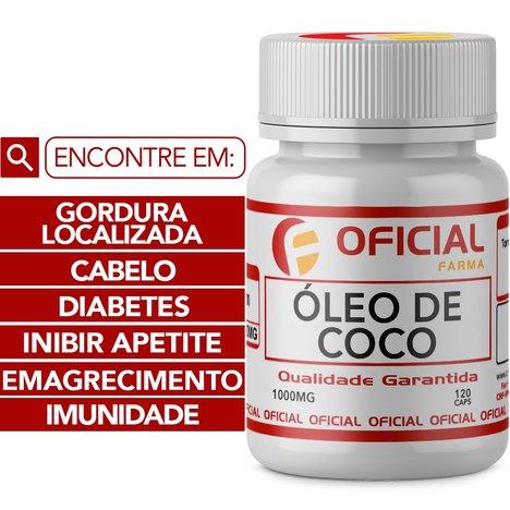 Óleo de Coco 1000Mg 120 Cápsulas