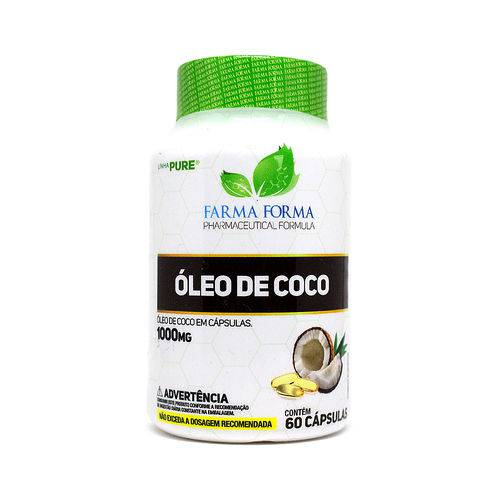 Óleo de Coco 1000mg 60 Cápsulas