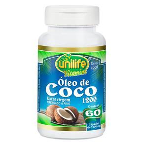 Óleo de Coco (1200mg) 60 Cápsulas - Unilife