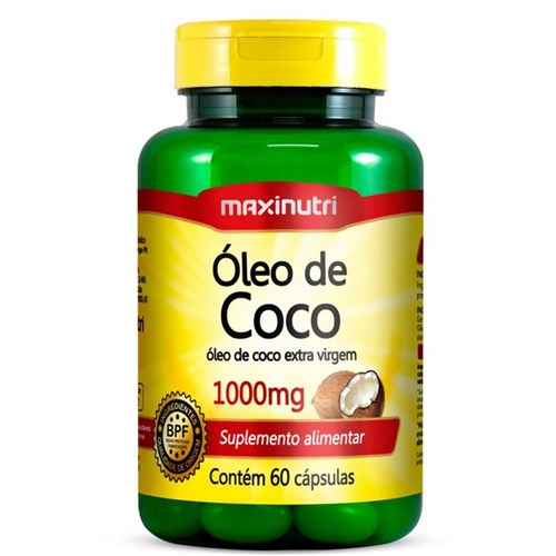 Óleo de Coco - 60 Cápsulas - Maxinutri