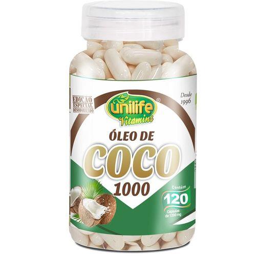 Óleo de Coco com 120 Cápsulas da Unilife