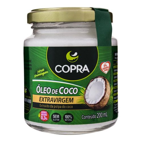 Óleo de Coco Copra Extra Virgem 200 Ml