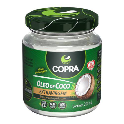 Óleo de Coco Extra Virgem 200 Ml Copra