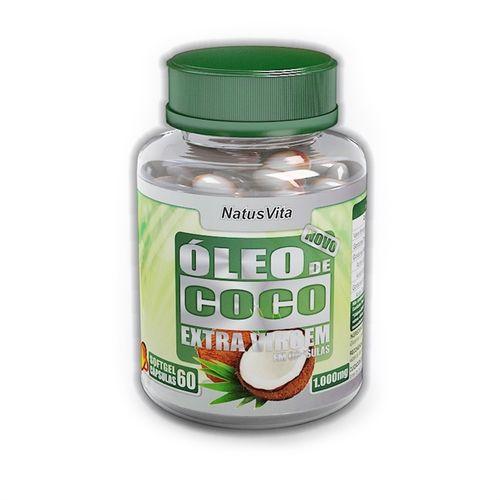 Óleo de Coco Extra Virgem - 60 Cápsulas