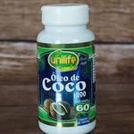 Óleo de Coco Extravirgem 60 Cápsulas 1200 Mg Unilife