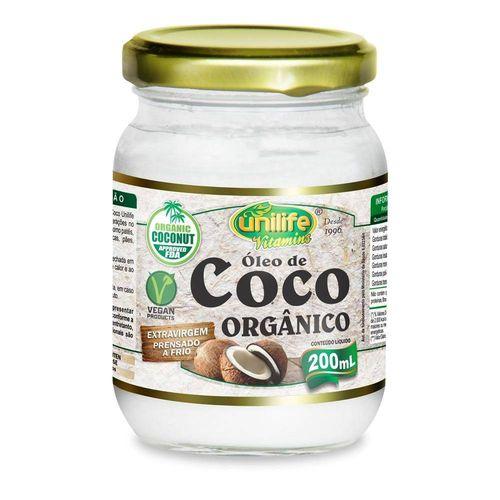 Óleo de Côco Orgânico Natural 200ml