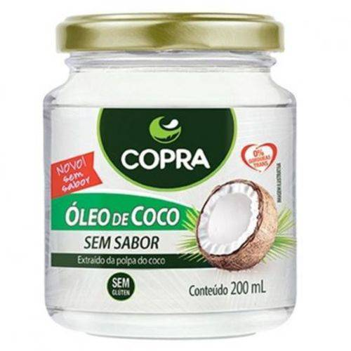 Óleo de Coco Sem Sabor Copra 200ml - 12 Unidades