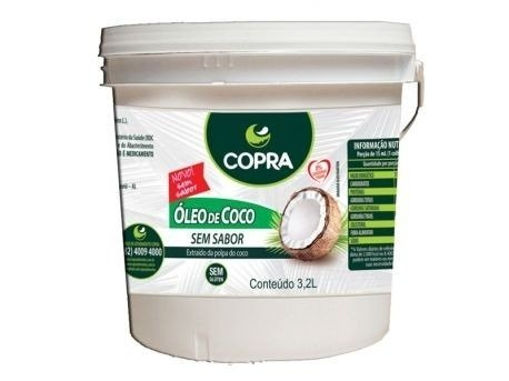 Óleo de Coco Sem Sabor Copra 3,2