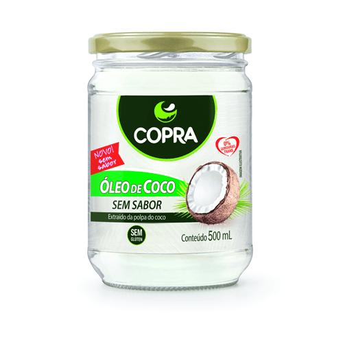Óleo de Coco Sem Sabor Copra 500 Ml