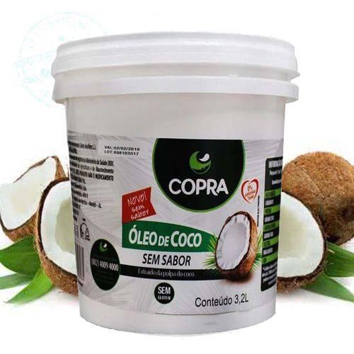 Oleo de Coco Sem Sabor Copra Balde 3,2 Litros