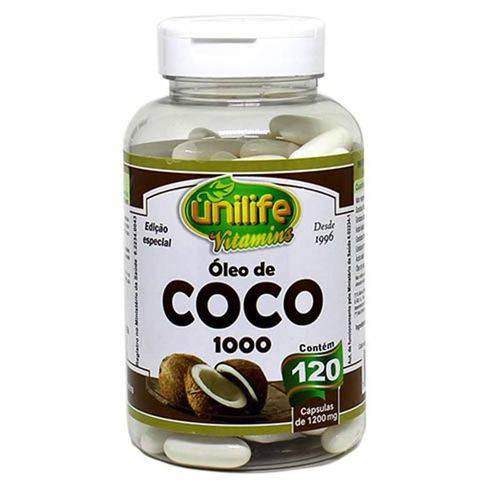 Óleo de Coco Unilife 120 Cápsulas