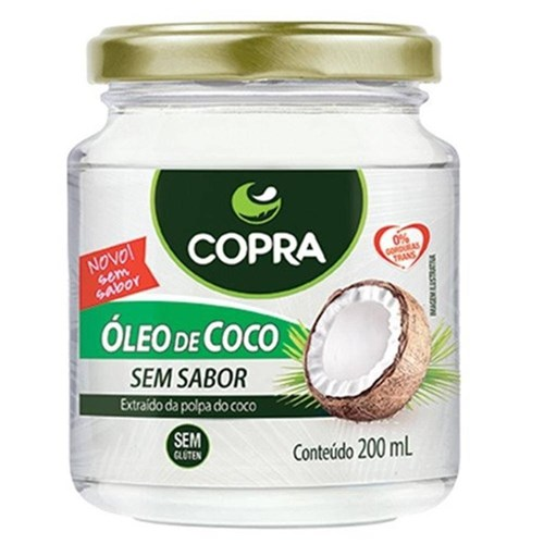 Oleo de Coco Virgem 200Ml - Copra Alimentos