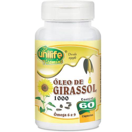 Óleo de Girassol 1200mg da Unilife 60 Cápsulas